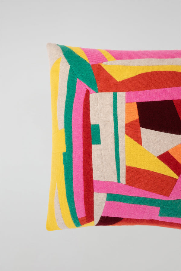 Maze Patchwork Pillow