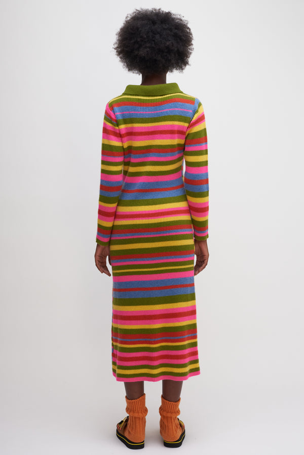 Med Rib Stripe Moon Dress
