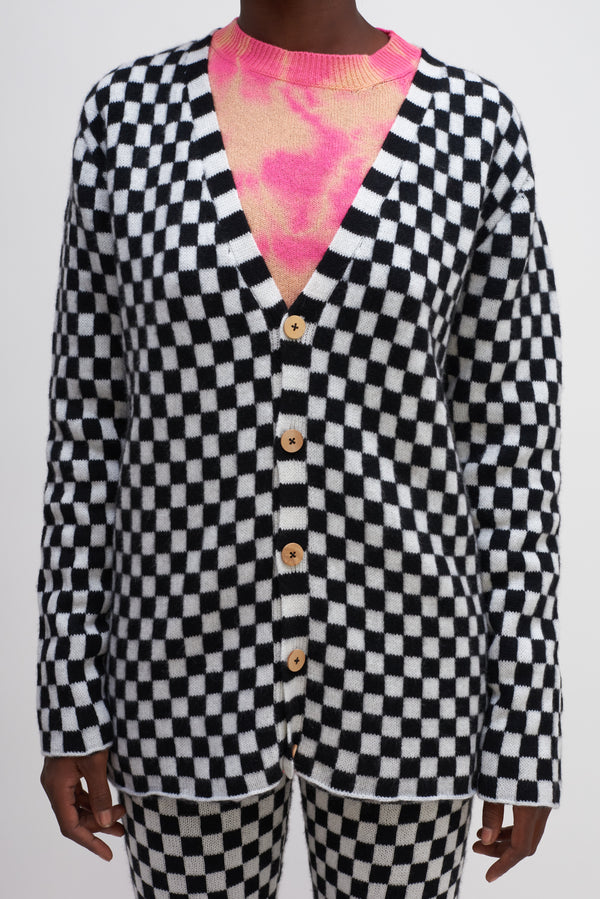 Checker Cardigan