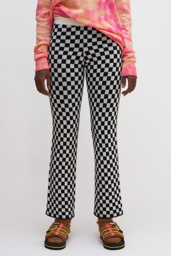 Checker Flare Pants