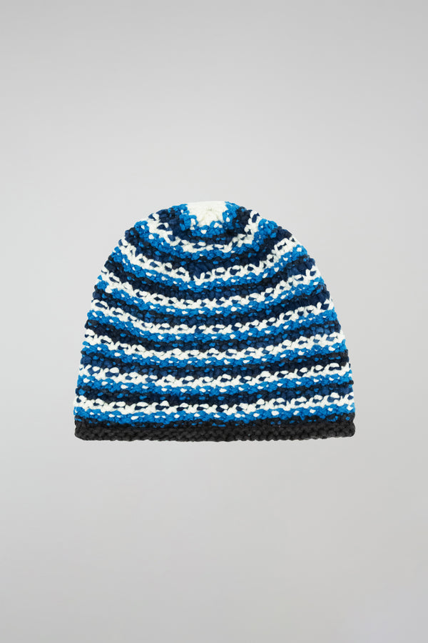 Hand-Knit Stripe Cap