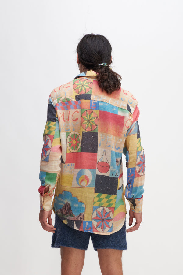 Print Boomslang Button-Up L/S