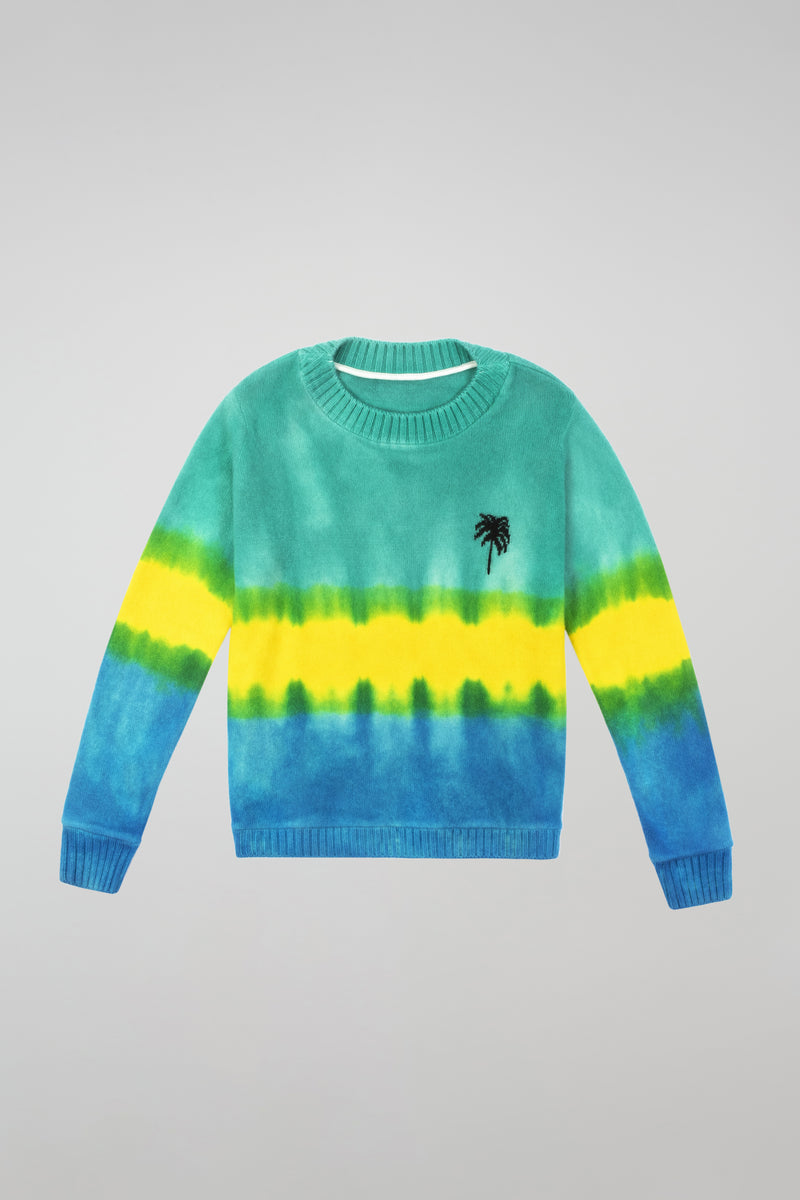 Gradient Dyed Palm Regular Sweater
