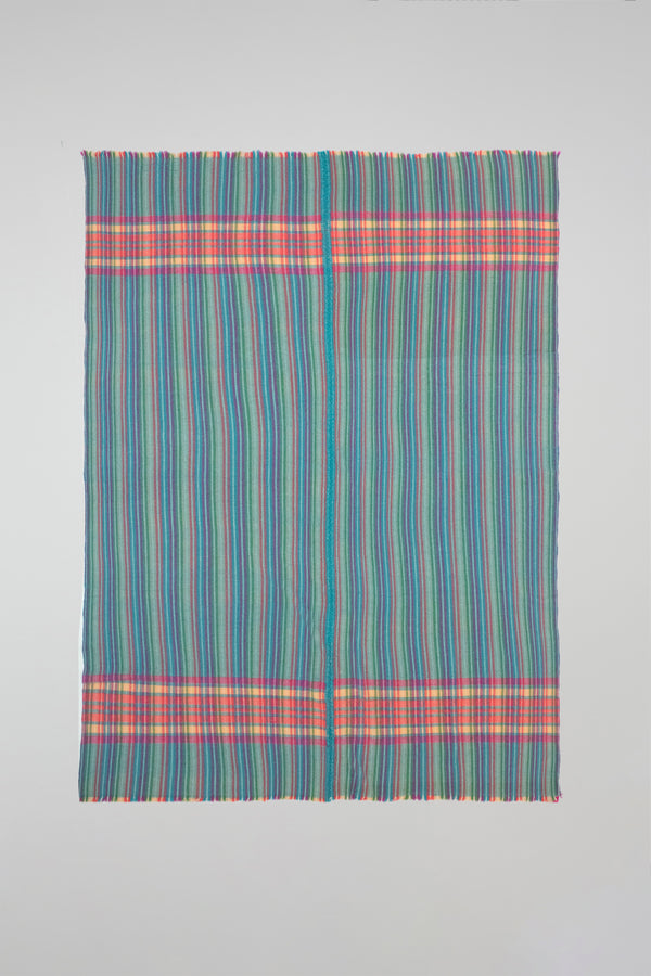 Plaid Stripe Woven Throw