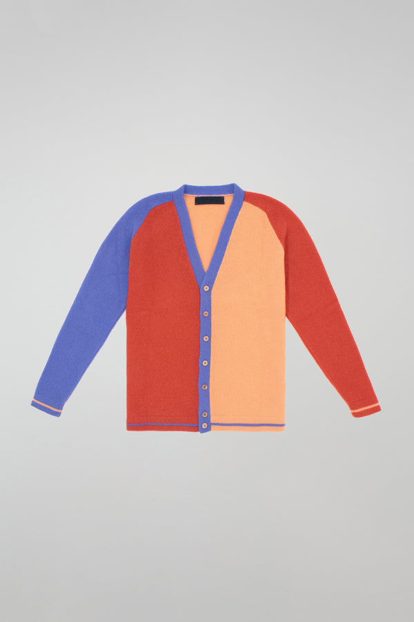 Block Heavy Cardigan