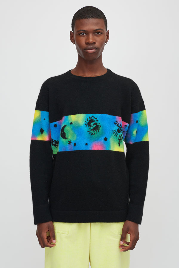 Galactic Dye Space Game Rambler Sweatshirt