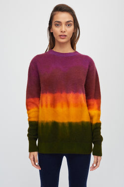 Gradient Dyed Simple Crew
