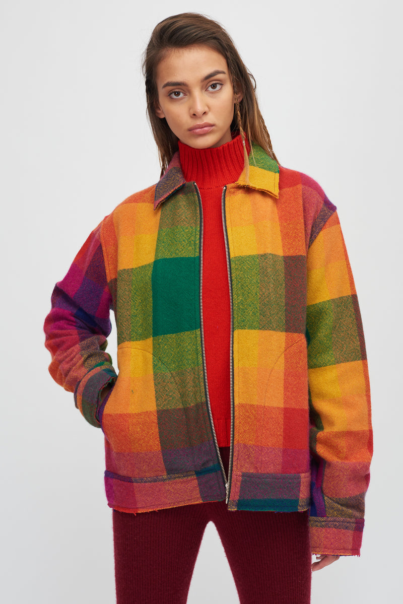 Rainbow Tartan Decon Jacket Long