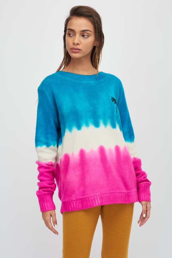 Dip Dye Palm Regular Sweater