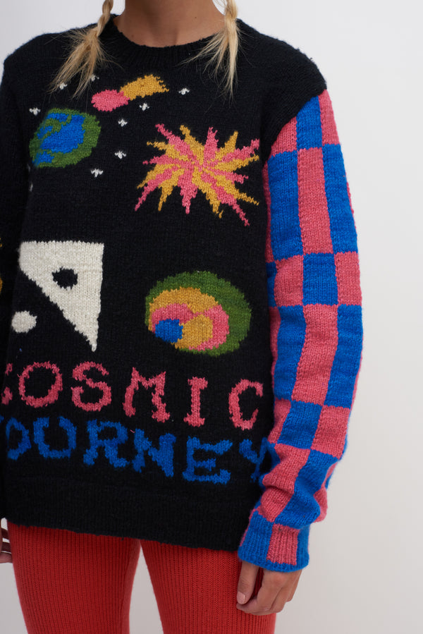 Hand Knit Cosmic Journey Crew