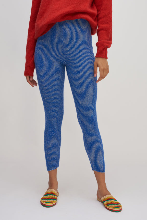 Med Rib Plaited Leggings