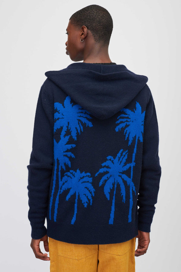 Palm Tree Zip Up Hoodie