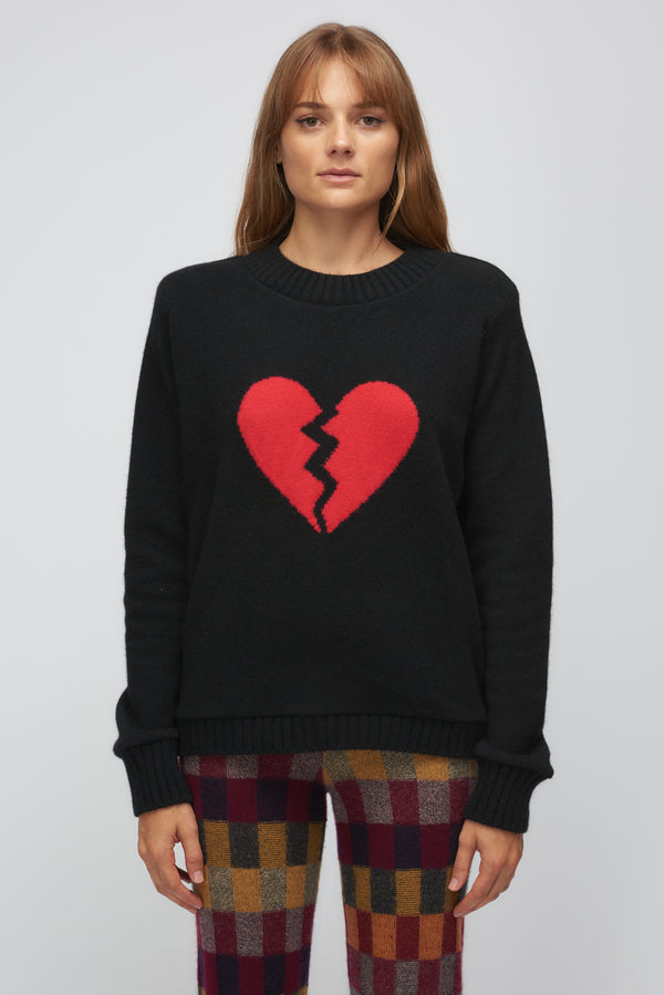 Regular Sweater with Broken Heart