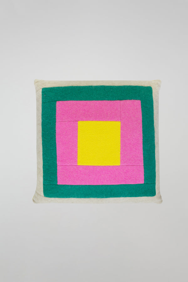 Squares Patchwork Pillow