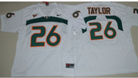 on sale 0af21 55d14 Sean Taylor Miami Hurricane's College Throwback Jersey