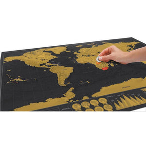 Deluxe Black Scratch-Off World Map