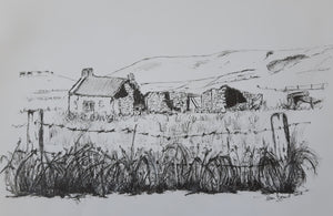 Belmullet Real and imagined . Twelve original black and white drawings. CLICK ON IMAGE TO SEE ALL TWELVE