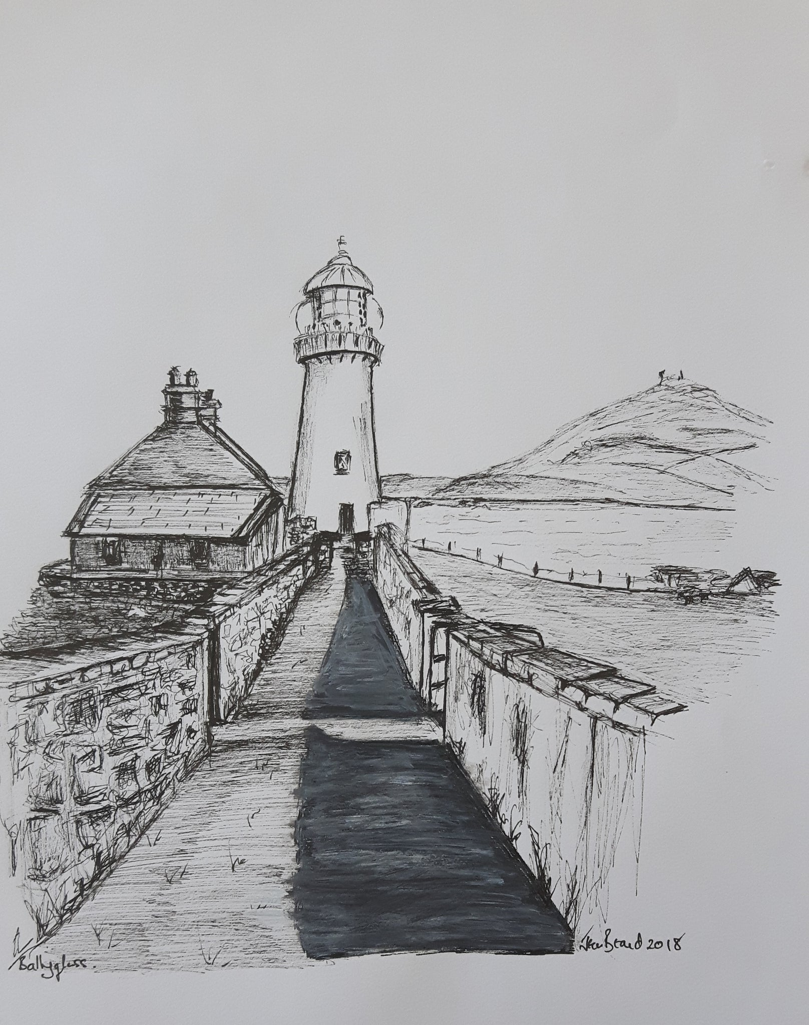 Twelve original black and white drawings click on image to