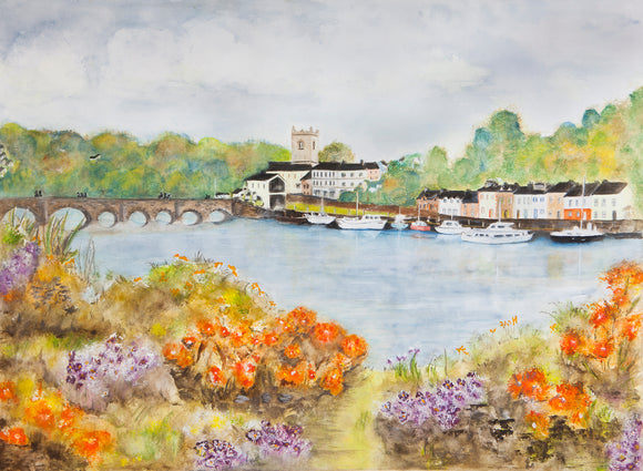 Original Watercolour  - View from the Lakeside Hotel Killaloe SOLD