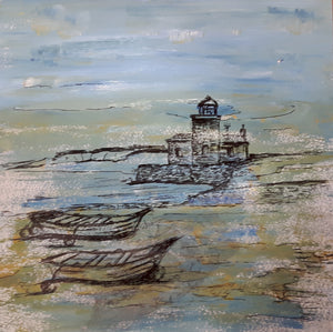 EVERYDAY A PAINTING - Boats at the Lighthouse