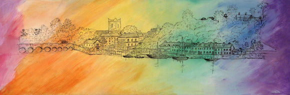 Original Acrylic Painting - Colourful Killaloe SOLD