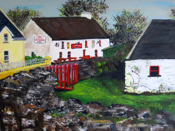 Original Acrylic Painting - Larkins Pub Garrykennedy SOLD
