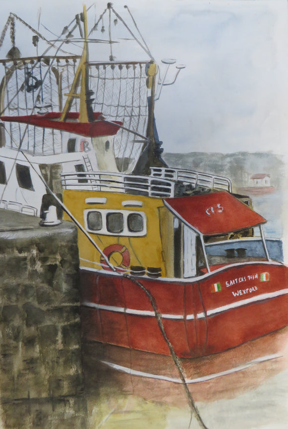 Original Watercolour - Fishing Boat in Kilmore Quay