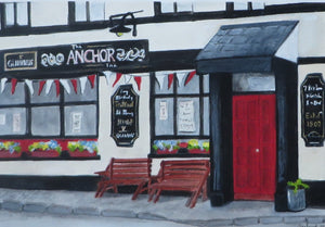 Original Watercolour - Anchor Bar Killaloe