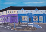 "BELMULLET - REAL AND IMAGINED.Original Painting ""Early morning Carter Square""series. CLICK ON IMAGE TO SEE FULL SERIES"