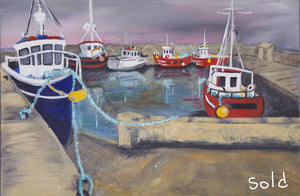 """Belmullet Harbours Series"" Original paintings."