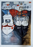 Original Watercolour - Boats in Kilmore Quay