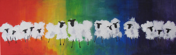 Original Acrylic Paintings - Sheep with Attitude