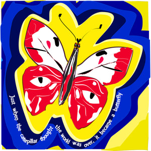 "Thinking Art. Mounted Print. ""The Butterfly"" by Val Bishop"