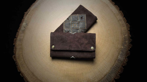 "Tobacco Pouch ""Patchwork Earth"""