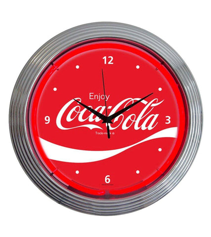 Coca-Cola Wave Neon Clock