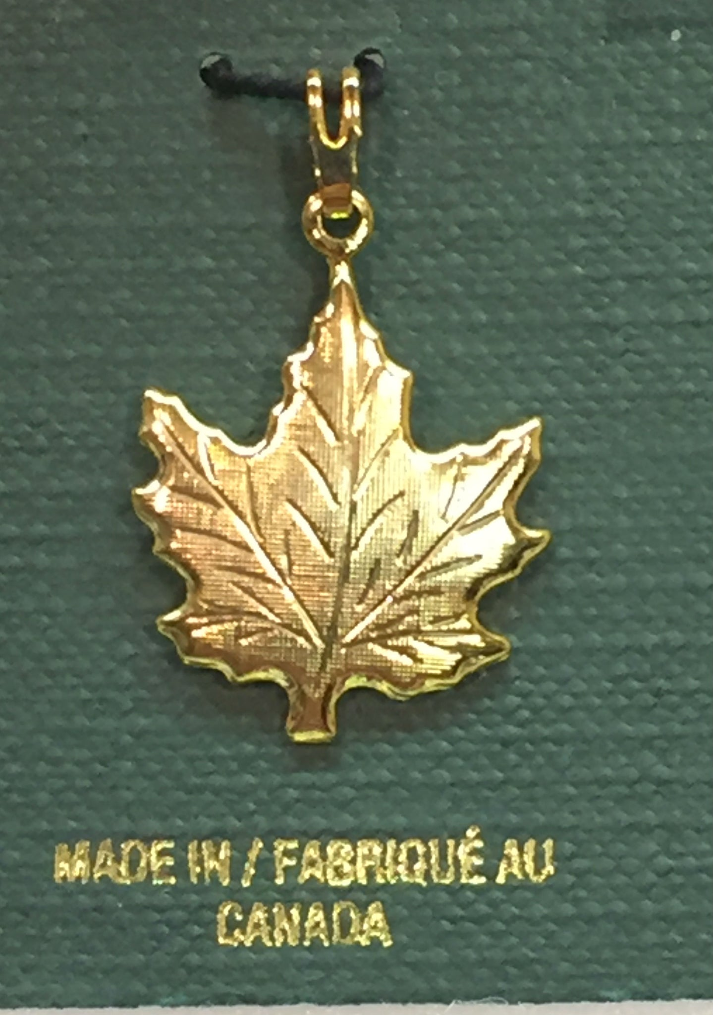 itm pendant gold leaf canadian s ebay solid maple