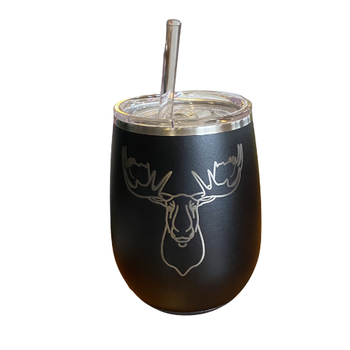 Mildred's Room Designs - Custom 14oz Wine Cup w straw