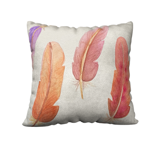 Mildred's Room Designs - Artist Print Feathers Accent Pillow 18x18