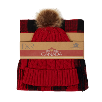 DKR Cottage Collection Toque & Scarf Gift Set