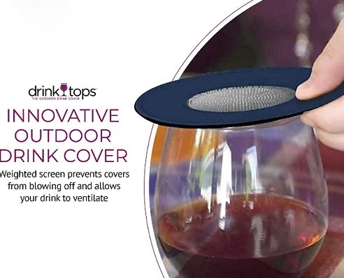 Drink Tops - Ventilated Wine Glass Covers