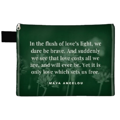 "Mildred's Room Designs - Love's Light Quote 12"" Carryall"