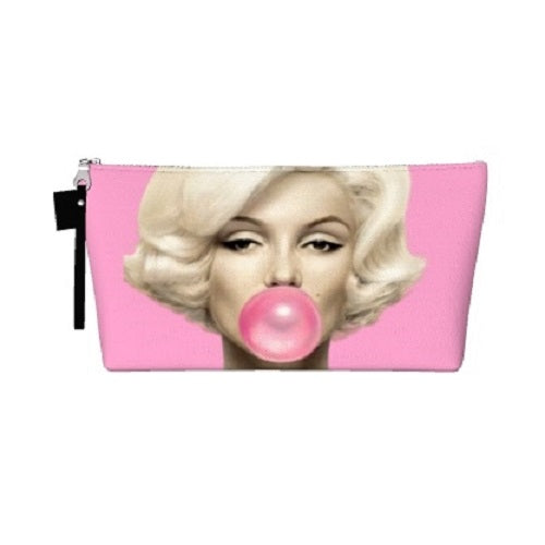 "Mildred's Room Designs - Bubble Gum Marilyn 10"" Makeup Bag"