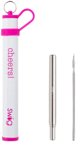 Swig Life - Telescopic Straw Set in Case with Brush