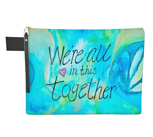 "Mildred's Room Designs - Artist Print We're All In This Together 12"" Carryall"
