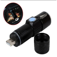 Flash Light Torch Mini Zoom Rechargeable Powerful USB