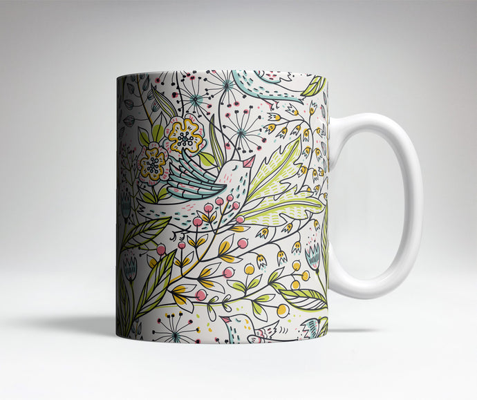 Floral Pattern Cute Coffee Mug