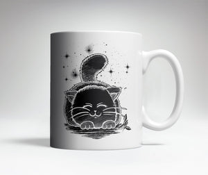 Black and White Cat Cute Coffee Mug