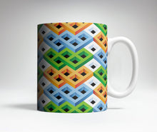 Colorful Blocks Optical Illusion Mug