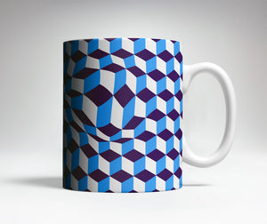 Distorted Blocks Optical Illusion Mug