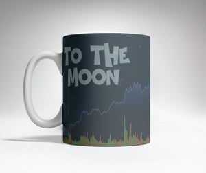 Bitcoin To The Moon Trick Mug